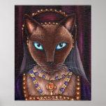 Catherine Howard Cat Art King Henry VIII Tudors Poster
