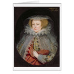 Catherine Killigrew, Lady Jermyn, 1614 (oil on pan Greeting Card