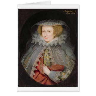 Catherine Killigrew, señora Jermyn, 1614 (aceite e Tarjeton