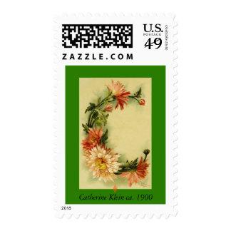 Catherine Klein Flower Alphabet C Chrysanthemum Postage Stamp