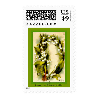 Catherine Klein Flower Alphabet D Lily of Valley Postage Stamps