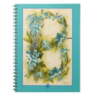 Catherine Klein Flower Alphabet Letter B Notebook