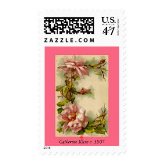 Catherine Klein Flower Alphabet Letter E Roses Postage