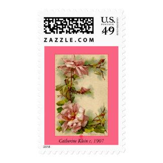 Catherine Klein Flower Alphabet Letter E Roses Stamp
