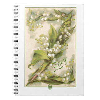 Catherine Klein Flower Alphabet Z Lily of Valley Notebook