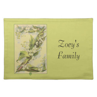 Catherine Klein Flower Alphabet Z Lily of Valley Place Mat