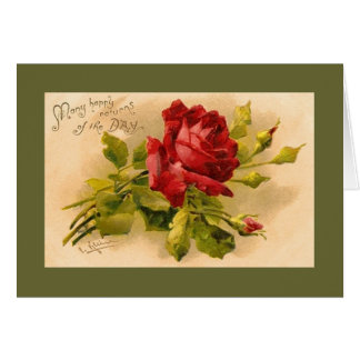 Catherine Klein Red Rose Birthday Card NC GR