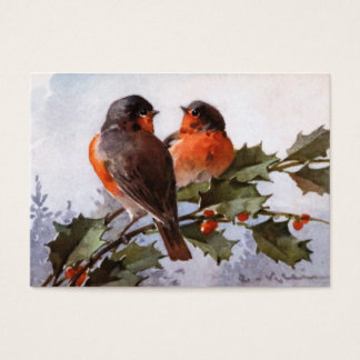 Catherine Klein: Robins on Holly Business Card