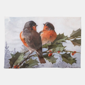 Catherine Klein: Robins on Holly Hand Towel
