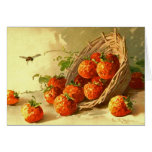 Catherine Klein strawberry basket.  NOTE CARD - FL