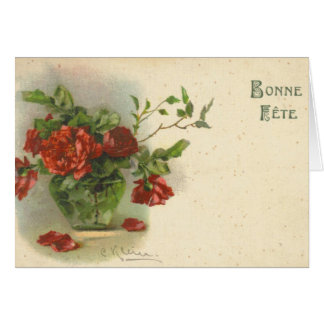 Catherine Klein Vintage Postcard Reproduction Greeting Card