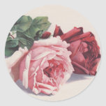 Catherine Klein's Pink & Red Roses - Sticker