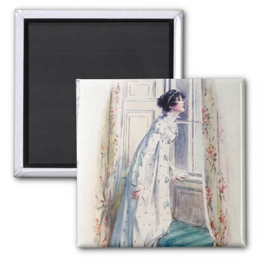 Catherine Morland 2 Inch Square Magnet