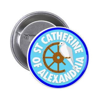 Catherine of Alexandria 2 Inch Round Button