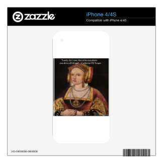 Catherine Of Aragon Love Quote Gifts & Cards iPhone 4 Decals