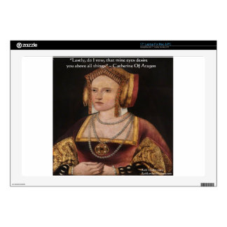 Catherine Of Aragon Love Quote Gifts & Cards Decals For Laptops