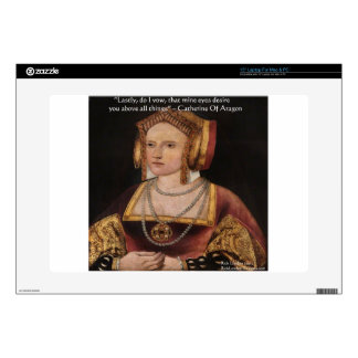 Catherine Of Aragon Love Quote Gifts & Cards Laptop Decal