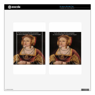 Catherine Of Aragon Love Quote Gifts & Cards Kindle Fire Decal