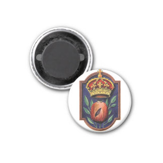 Catherine of Aragon Pomegranate Badge Magnet