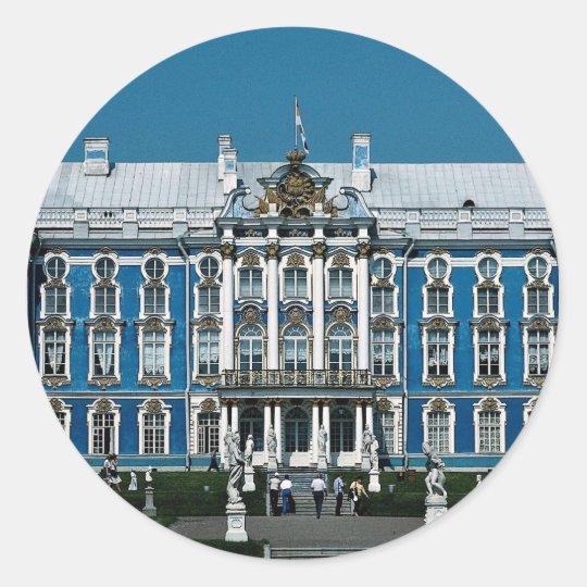 Catherine Palace at Pushkin, Saint Petersburg, Rus Classic Round Sticker