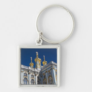 Catherine Palace Chapel detail Silver-Colored Square Keychain