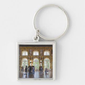 Catherine Palace, detail of the Great Hall 3 Silver-Colored Square Keychain