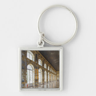 Catherine Palace, detail of the Great Hall Silver-Colored Square Keychain