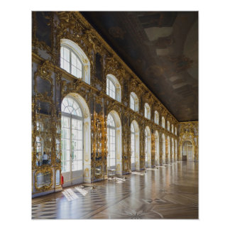 Catherine Palace, detail of the Great Hall Poster
