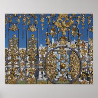 Catherine Palace, palace gate Poster