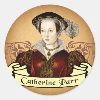 Catherine Parr Pegatinas Redondas