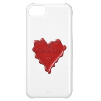 Catherine. Red heart wax seal with name Catherine Case For iPhone 5C