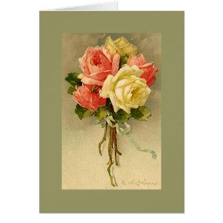 Catherine rosas rosados y blancos DKGR de Klein Tarjeta Pequeña