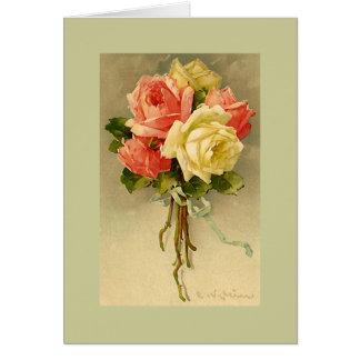 Catherine rosas rosados y blancos LTGR de Klein Tarjeta Pequeña