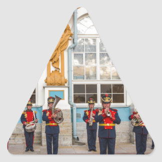 Catherine's Great Palace Tsarskoye Selo Brass Band Triangle Sticker