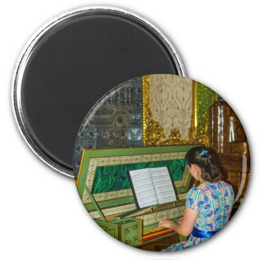 Catherine's Great Palace Tsarskoye Selo Harpsichord 2-inch Round Magnet
