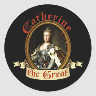 Catherine The Great Classic Round Sticker