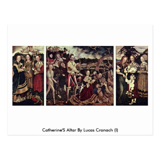 Catherine'S Altar By Lucas Cranach (I) Postcards