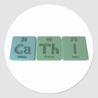Cathi as Calcium Thorium Iodine Classic Round Sticker