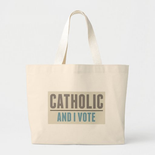 Catholic And I Vote Tote Bags