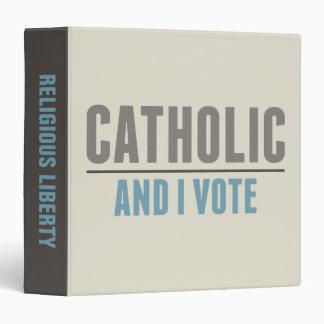 Catholic And I Vote 3 Ring Binders