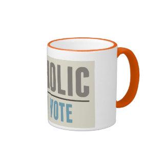 Catholic And I Vote Coffee Mugs