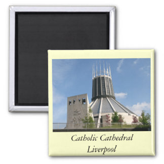 Catholic Cathedral - Liverpool 2 Inch Square Magnet