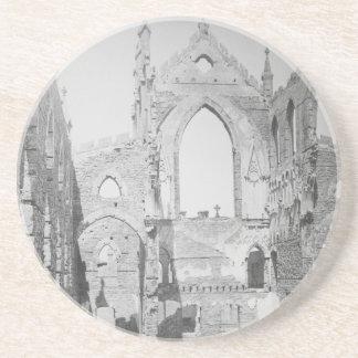 Catholic Cathedral Ruins During Civil War, 1865 Drink Coaster