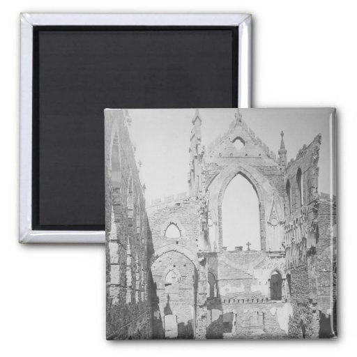 Catholic Cathedral Ruins During Civil War, 1865 Refrigerator Magnets