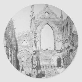 Catholic Cathedral Ruins During Civil War 1865 Round Sticker