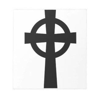 Catholic Celtic Cross Note Pad