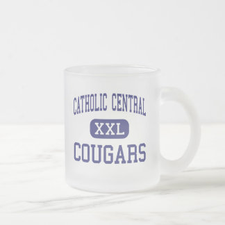 Catholic Central - Cougars - High - Grand Rapids Frosted Glass Coffee Mug