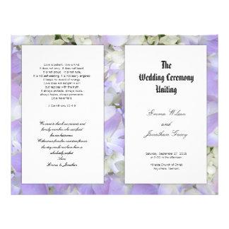 Catholic Ceremony Purple Flowers Program Template Flyer