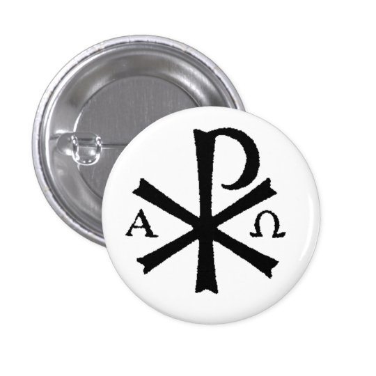 Catholic Chi Rho Button