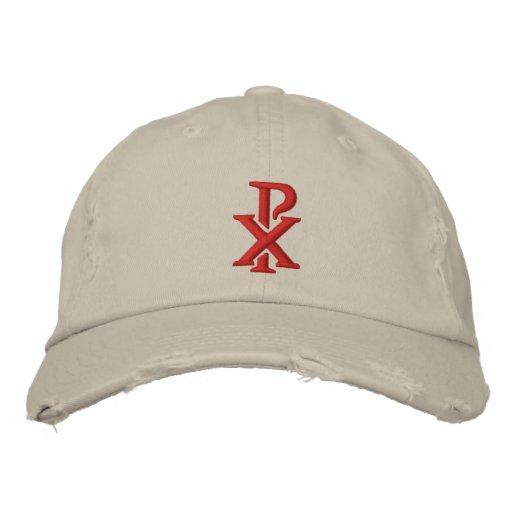 Catholic Chi Rho Embroidered Baseball Cap